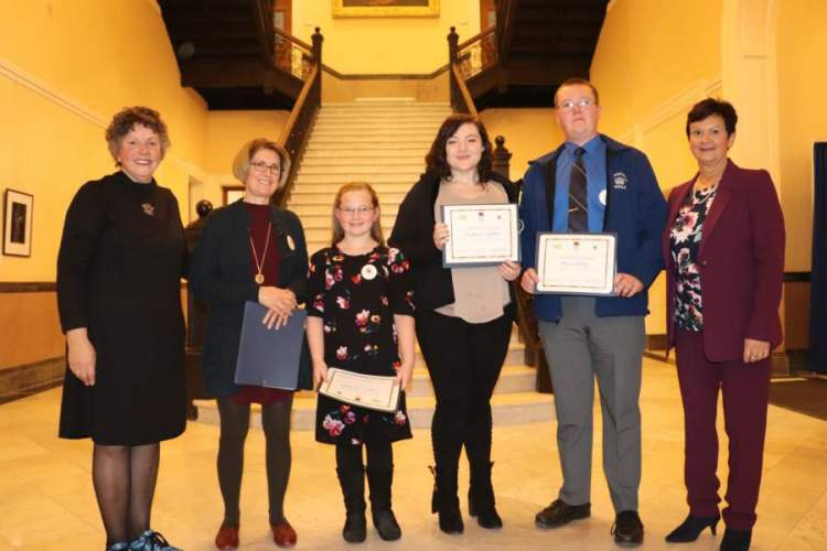 Large image of photo: Students honored in Augusta for the 2018 Maine Excellence in Arts Education