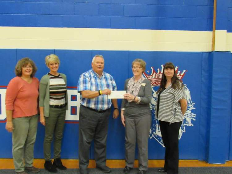 Large image of photo: THANK YOU MACHIAS SAVINGS BANK FOR YOUR DONATION TO JBHS