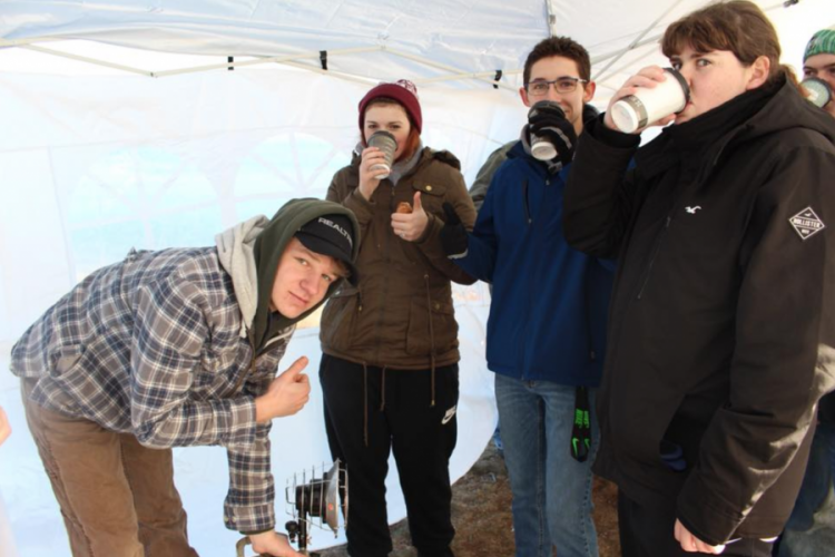 Large image of photo: Heat and Hot Chocolate at the JMG Polar Dip